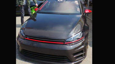 Golf R with a carbon fibre bonnet