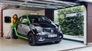 Smart ForFour Electric Drive  garage charging