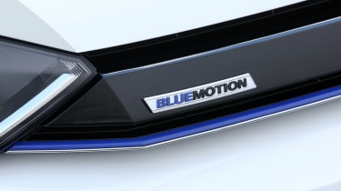VW Golf BlueMotion 1.0 TSI badge