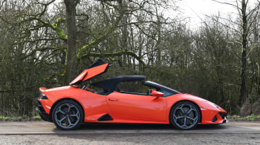 Lamborghini Huracan Evo Spyder - roof opening