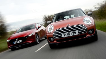 MINI Clubman vs Mazda 3 - header