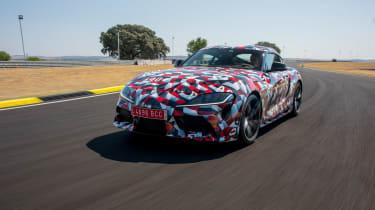 Toyota Supra prototype track - front action