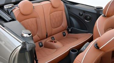 MINI Cooper S Convertible 2016 review - rear seats