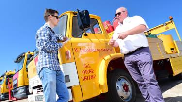 Highways truck and Wayne Johnston