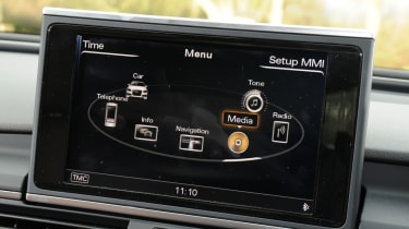 Audi's MMI multimedia system isn't quite as easy to use as BMW's iDrive.