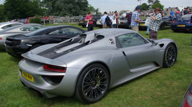 This privately-owned 918 Spyder was in the public car park!
