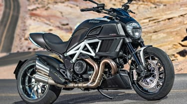 Ducati Diavel review - static front parked