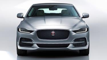 Jaguar XE - studio full front grey