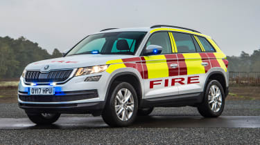 Skoda Kodiaq fire car - front static