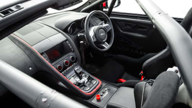 Jaguar F-Type rally car - interior