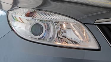 Used Skoda Fabia - front headlight