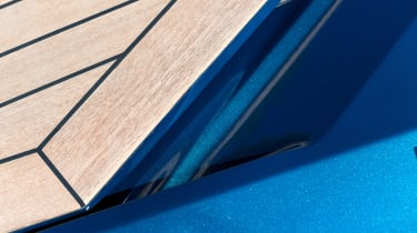 Aston Martin AM37S boat - wood panelling