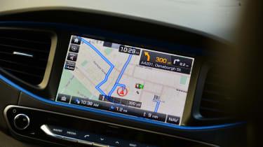 Driver Emotion Test - Hyundai Ioniq sat-nav