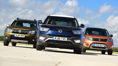 SsangYong Tivoli XLV vs Dacia Duster vs Suzuki Vitara - head-to-head