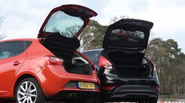 SEAT Ibiza SC FR vs Ford Fiesta Zetec S Black Edition - boot comparison