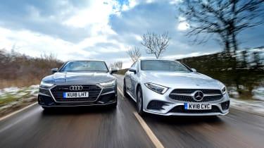 Mercedes CLS vs Audi A7 Sportback - head-to-head