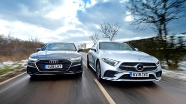 Mercedes CLS vs Audi A7 Sportback - head-to-head