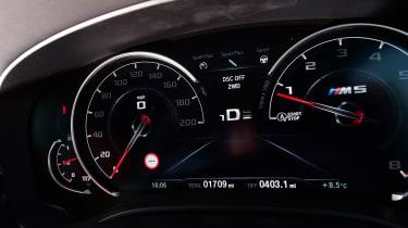 BMW M5 dials