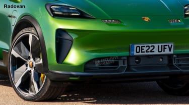Porsche Macan EV - render close front