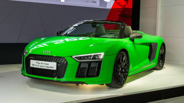 Audi R8 Spyder V10 Plus - Goodwood reveal side