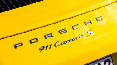 Porsche 911 Carrera S Cabriolet badging