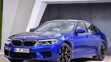 BMW M5 leaked - front static