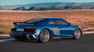 Audi R8 - rear action