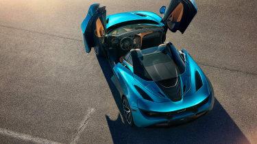 McLaren 720 Spider - above doors open