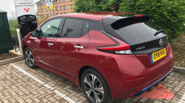 Nissan Leaf long termer first report - rear charging