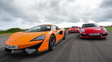 McLaren 570S vs Porsche 911 vs Audi R8