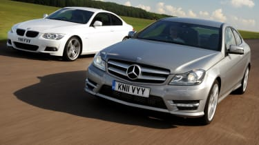 Mercedes C-Class Coupe vs BMW 3 Series