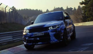 Land Rover Range Rover Sport SVR front quarter Nurburgring