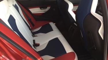 BMW M3 30th Anniversary US - back seats