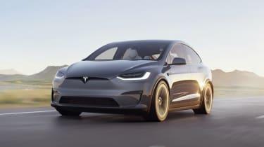 Tesla Model X facelift - front tracking