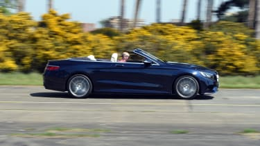 Mercedes S 500 Cabriolet 2016 - side tracking