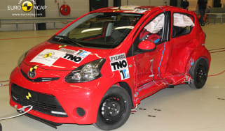Toyota Aygo Euro NCAP crash test front side