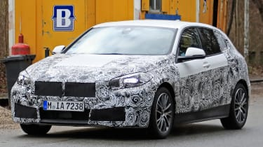 bmw 1 series spy shot front quarter