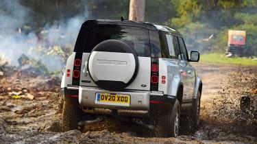 Land Rover Defender off road mud