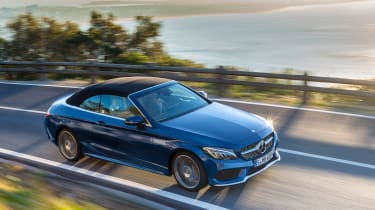 Mercedes C-Class Cabriolet - front overhead
