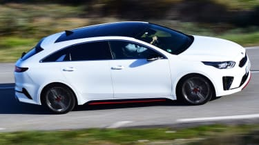 kia proceed gt prototype driving