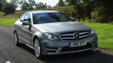 Mercedes C180 Coupe front tracking