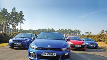 VW Scirocco R vs. rivals