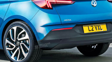 New Vauxhall Astra - rear detail (watermarked)