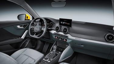 Audi Q2 Yellow cabin side