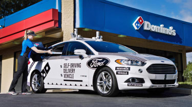 Ford Dominoes self-driving pizza delivery - pizza