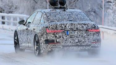 2018 Audi A6 spy shot rear quarter
