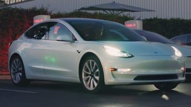 Tesla Model 3 parking