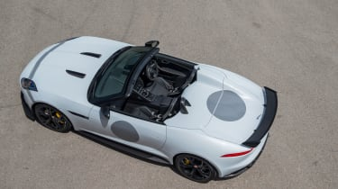 <span>The result of all these changes to the F-Type means the Project 7 looks aggressive and modern, but with just a twist of D-Type.</span>