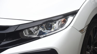 Honda Civic long-term review - Civic headlight