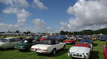 As always the car park at the Revival was brilliant, with thousands of amazing cars all lined up.